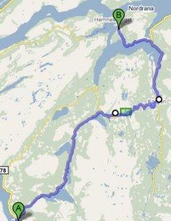 Bikeride from Mosjøen to Sund